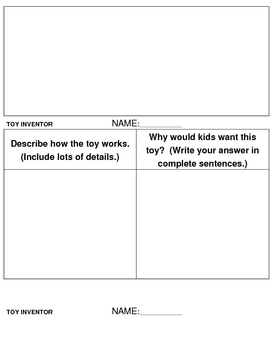 Diagram your Toy Invention