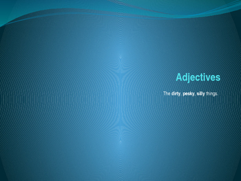 Diagramming Adjectives PowerPoint