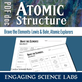 Diagramming Atoms | Constructing Lewis and Bohr Models | Printable Worksheets