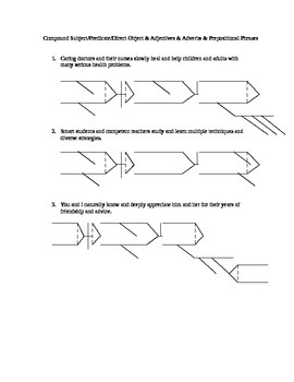 Diagramming Practice with Lines and Answer Key