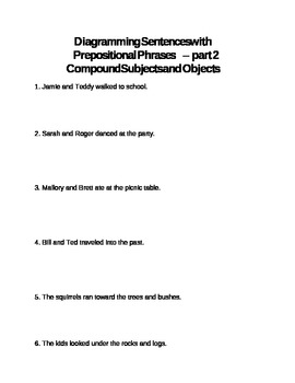Diagramming Prepositional Phrases, part 2