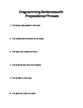 Diagramming Prepositional Phrases