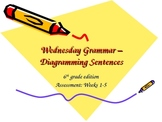 Diagramming Sentences - The Basics - Assessment for Weeks 1-5