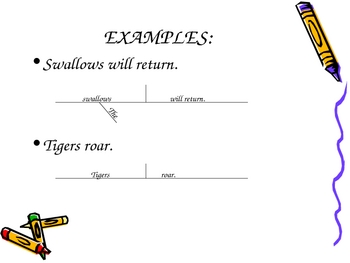 Diagramming Sentences - The Basics - Week 2
