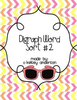 Digraph 2 Word Sort ~ Diagraph Phonics Word Work