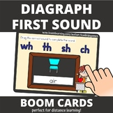 Diagraph Beginning Sound Back to School BOOM Cards (distan