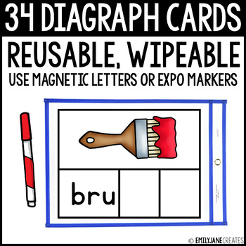 Diagraph Cards (Reusable, Wipable)