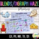 Blends   Diagraph Maze (Ch, Ph, Sh, Th, Wh)   Phonics   Word Work