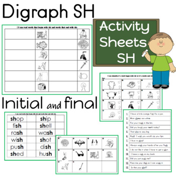 Digraph SH Activity Sheets (5 pages)