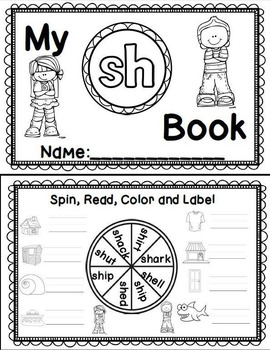 Diagraph Sh, Ch, Th, Wh, Ph Interactive Word Work Booklets
