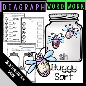 Diagraph Sort Word Work
