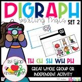 Digraph Kindergarten - Diagraph Sorting Mat Set 2 (ch, sh,