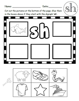 SH Digraph Worksheets!