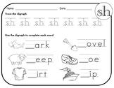 SH Digraph Worksheets!