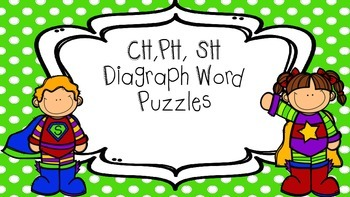 Diagraph word puzzles