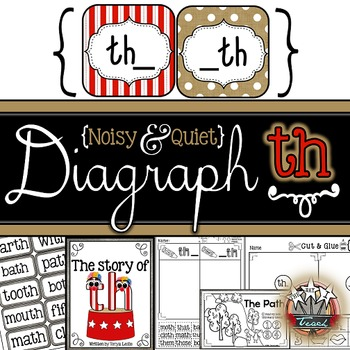 Diagraphs:  Diagraph th {Word Work, Independent Work, Games, Reader}
