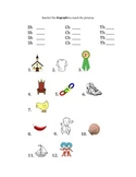 Diagraphs, Blends & Long Vowel Worksheets for Groups