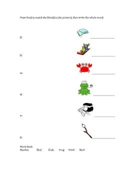 Diagraphs, Blends & Long Vowel Worksheets for Groups
