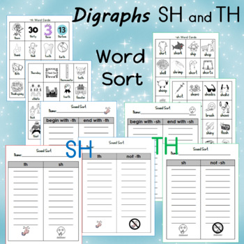 Digraphs SH and TH Word Sort