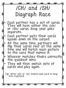 Diagraphs and Blends Partner Games - Just Print and Play!