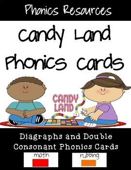 Diagraph and Double Consonant Candy Land Cards