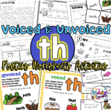 Digraphs ch sh th - 9 worksheets