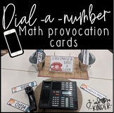 Dial-A-Number Bilingual Math Provocation Cards