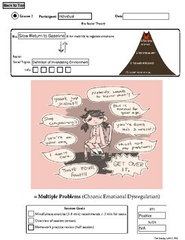 Dialectical Behavior Therapy Worksheet by Mental Health ...