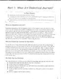 Dialectical Journal:  A Student Guide