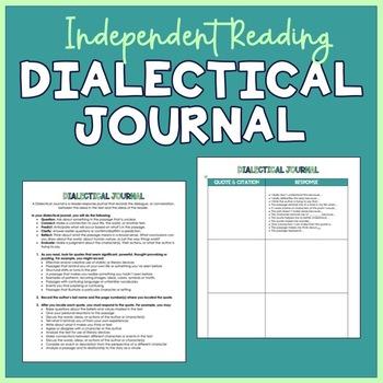 Dialectical Journal (Handout & Assignment)