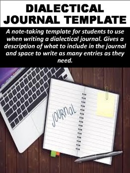Dialectical Journal Template