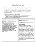 Dialectical Journal for Beowulf (Raffel translation)