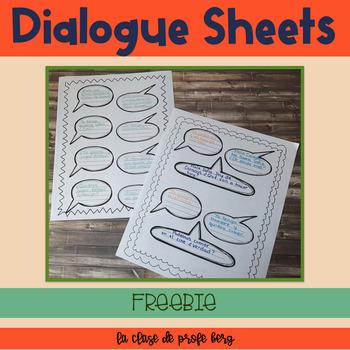 Dialogue Sheets Freebie