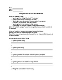 Dialog and Point of View Worksheets