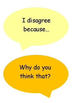 Dialogic Talk Sentence Prompts Display