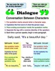 The Rules of Dialogue Writing Activity and Anchor Chart