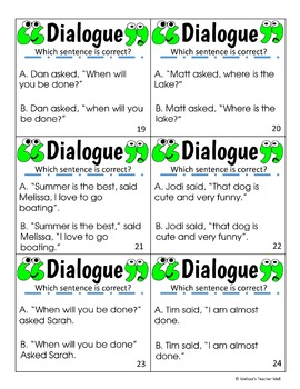 Dialogue Activity and Game, Rules for Writing Dialogue