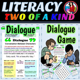 Dialogue Activity and Game Rules for Writing Dialogue Bundle