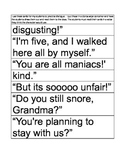 Dialogue Cards from Fudge-a-Mania