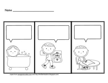Dialogue Cartoon Templates for Common Core Writing