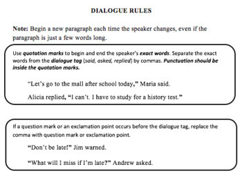 Dialogue Formatting Rules