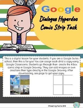 Dialogue Hyperdoc Comic Strip Task