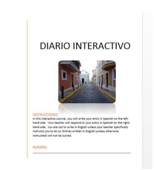 Dialogue Journals for Spanish Class