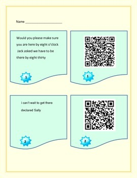 Dialogue Lesson Plans with Activity Cards and QR Code Self-checking