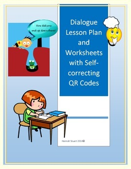 Dialogue Lesson Plans with Activity Cards and QR Code Self