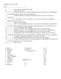 Dialogue Literary Terms Quiz