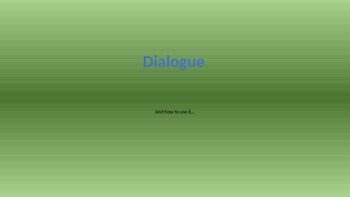 Dialogue Power Point