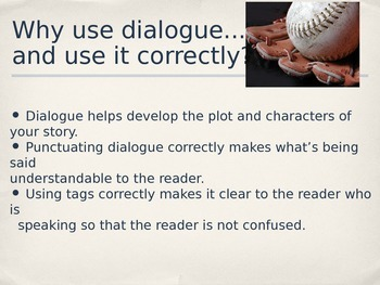 Teaching Grammar in Writing: Dialogue PowerPoint and Activity