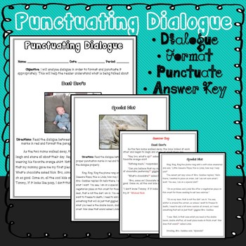 Dialogue Practice: Formatting and Punctuating