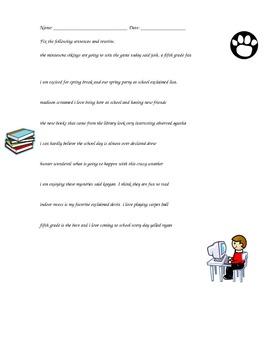 Dialogue Punctuation Editing Worksheet by Sarah Johnson | Teachers ...